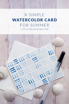 A Watercolor Card for Summer - who wouldn't want to receive a pretty watercolor card in the mail? @ littlegirldesigns.com