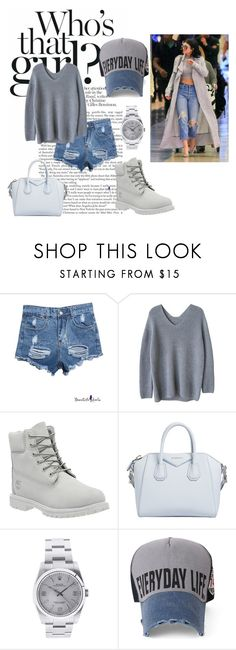 """""""Chillin in Greys"""" by kallysantos on Polyvore featuring Timberland, Givenchy and Rolex"""