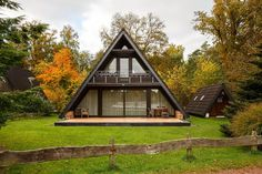 Wooden House Plans, Guest House Plans, A Frame House Kits, A Frame House Plans, Building A Small House, Triangle House, Modern Villa Design, Dome House, Forest House
