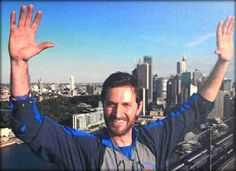 Richard Armitage on The Sydney Harbour Bridge, Sydney, Australia. He was visiting during the filming of the Hobbit movies
