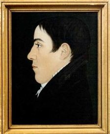 Artwork by Benjamin Greenleaf, Portrait of Timothy Brainard Egerton, Made of Reverse painting on glass