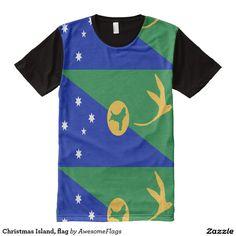 Christmas Island, flag All-Over Print T-Shirt