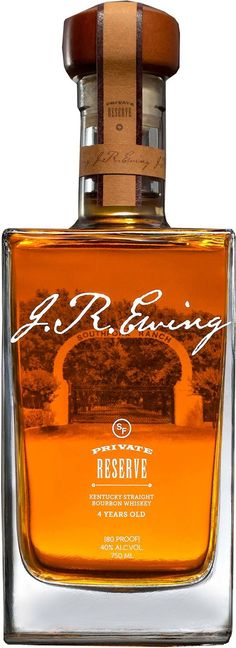 J.R. Ewing Private Reserve Kentucky Straight Bourbon #Whiskey. Aged in Kentucky for a minimum of four years, this #bourbon is crafted in homage to J.R. Ewing, one of the most popular characters in the hit television series Dallas. | @Caskers