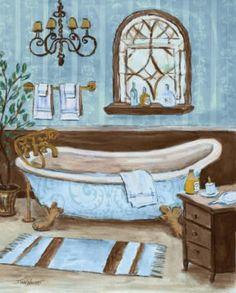 Posterazzi Tranquil Tub II Canvas Art - Todd Williams x