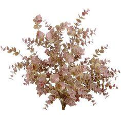 19' Artificial Eucalyptus Wedding Bush Artificial Flower Green/Burgundy 10 *** Click image to review more details.