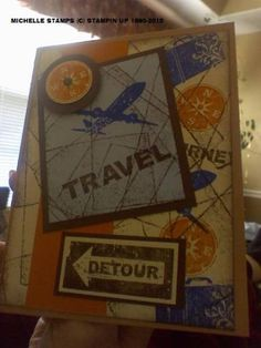 Travel Card by whitetigers - Cards and Paper Crafts at Splitcoaststampers Travel Theme Decor, Travel Themes, Travel Cards, World View, Tim Holtz, Vacation Trips, Homemade Cards, Stamping, Card Ideas