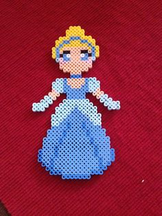 Cinderella from Disney perler beads by KcranceArt