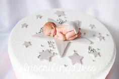 twinkle twinkle little star baby shower fondant silver baby