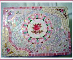 Fancy Mosaic Table, ~by Sondra, Traders of the Lost Art 1