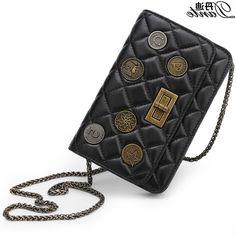 39.89$  Buy here - https://alitems.com/g/1e8d114494b01f4c715516525dc3e8/?i=5&ulp=https%3A%2F%2Fwww.aliexpress.com%2Fitem%2FSheepskin-leather-diagonal-lattice-chain-bag-handbag-shoulder-bag-lady-retro-single-shoulder-bag%2F32766075955.html - Bolsos Mujer Bandolera 2016 Badge link chain women bag luxury brand designer Shoulder/crossbody/message sheepskin Lock package