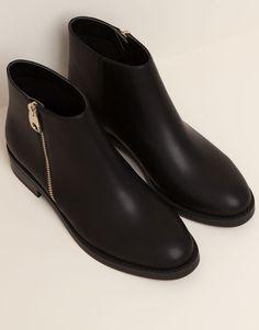 botín negro potas negras