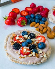 A super FUN Clean Eating Style breakfast idea! Makes 4 servings Ingredients: 4 small sprouted wheat pita 3 tsp organic unsweetened cacao powder 8 Tbsps plain Greek yogurt 3-4 Tbsp raw honey 1/2 tsp vanilla extract 1 small ripe banana, sliced 1 cup fresh berries 2 Tbsps chia seeds, or chopped...