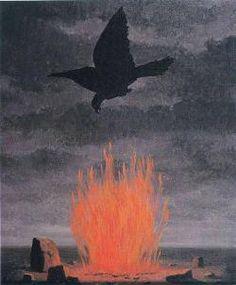 "renemagritte-art:  ""  The fanatics 1955  Rene Magritte  """