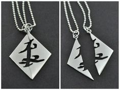 Parabatai Rune Split Pendant – This is a handmade sterling silver pendant featuring the Friendship mark with a high polished finish. (The Shadowhunter Chronicles by Cassandra Clare)