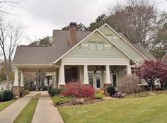 House plans and floor plans for all architecture styles. From modern plans and small plans to luxury home designs, you can find them all here at The Plan Collection! Browse our house plans and fall in love with your dream home. The Plan, How To Plan, Bungalow Floor Plans, Craftsman Style House Plans, Bungalow Style House, Craftsman Cottage, Craftsman Homes, Modern Craftsman, Craftsman Bungalow Exterior