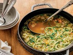 Simple Chicken Zoodle Soup is easy to make using your favorite Ninja® appliances. Discover delicious and inspiring recipes from Ninja® for every meal.