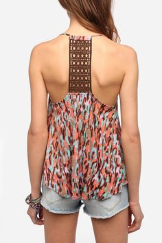 UrbanOutfitters.com > Staring at Stars Printed T-Back Cami