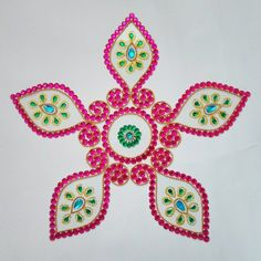 Wedding Special_Kundan Rangoli Gokarna shape-Home Decor-Dipti Art & Craft