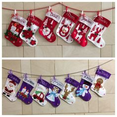 Christmas stockings for family