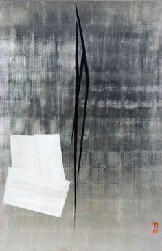 篠田桃紅『Silver Solitude/閑』(2001年)