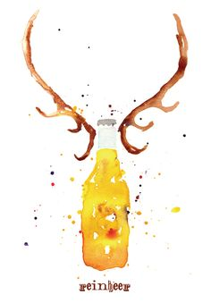 Reinbeer by Karen Kurycki, via Behance
