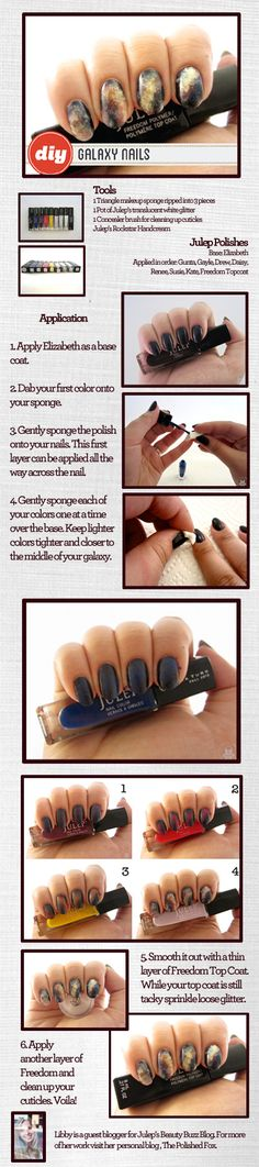 Libby's DIY Galaxy Nails for Julep
