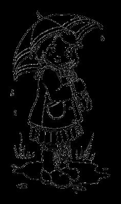rainy weather coloring pages | ... to Coloring on Page : Girl On The Rainyday Free to Coloring on Page