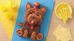 Yorkie Dog Cake recipe from Betty Crocker