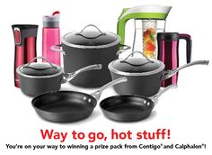 Contigo and Calphalon Valentine's Day Giveaway.  Win a cookware set plus more.  Enter here http://woobox.com/hgbfi2/dmj3bz