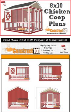 Things To Consider For Raising Chickens and Having Chicken Coops - Top Coop Plans Chicken Coop Designs, Chicken Coop Plans Free, Chicken Coop Kit, Mobile Chicken Coop, Chicken Coup, Portable Chicken Coop, Backyard Chicken Coops, Building A Chicken Coop, Chicken Runs