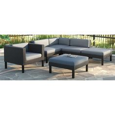 CorLiving   PPO 801 Z   Patio Collections | Patio Sets | Pinterest |  Outdoor Sectional, Patios And Chaise Lounges