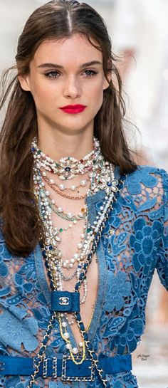 The Cut – Fashion, Beauty, Politics, Sex and Celebrity Chanel Runway, Chanel Couture, Blue Fashion, Fashion Fashion, Spring Fashion, Sixties Fashion, Chanel Spring, Chic Outfits, Sexy Outfits