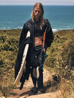 "Vogue Paris October 2016  ""Surfin' Style""  Model: Sofie Hemmet  Photographer: Gregory Harris  Stylist: Géraldine Saglio"