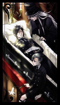 Ciel, Sebastian et Undertaker - Black Butler