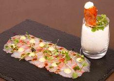 Carpaccio de gambas de Palamós con mayonesa de soja   Jordi Angli