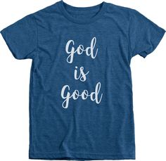 First Revolution - God is Good Boys Tri-blend Crew Neck Short Sleeve T-shirt by FirstRevolutionShop on Etsy https://www.etsy.com/listing/476263107/first-revolution-god-is-good-boys-tri