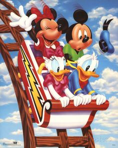 Mickey Mouse and Friends Rollercoaster Mini Poster
