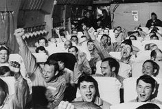 """historicaltimes: """"Former American POWs cheer as their aircraft takes off from an airfield near Hanoi as part of Operation Homecoming. February 1973. """""""