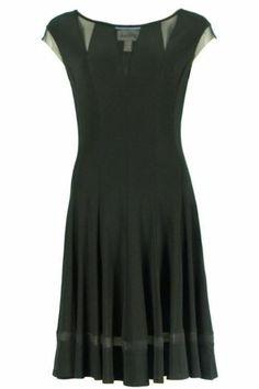 Joseph Ribkoff Dress.  FIT- and - FLARE DRESS | Topped with illusion yoke| Joseph Ribkoff 2014 – 2015 Collection.  #lbd #LBD #josephribkoff #black #dress
