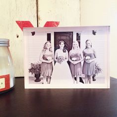 Decorate your rental without causing damage with acrylic photo blocks from Tiny Prints. #rental #decor