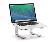 Griffin Elevator Computer Laptop Stand - Silver/Clear - http://www.computerlaptoprepairsyork.co.uk/laptop-computer/griffin-elevator-computer-laptop-stand-silverclear