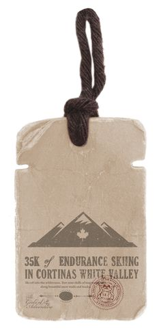 WC2 L Moutain Swing #hangtag Swing Tags, Tag Design, Vintage Cards, Ticket, Fonts, Label, Reusable Tote Bags, Branding, Christmas Ornaments