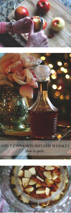 DIY apple cinnamon infused whiskey! #thegoldengirlblog