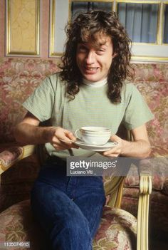 Angus Young lead guitarist songwriter and cofounder of rock band AC/DC Rome Italy 1986 Angus Young, Ac Dc, Rock And Roll Bands, Rock N Roll, Bon Scott, Brian Johnson, Creedence Clearwater Revival, Blues Rock, Co Founder