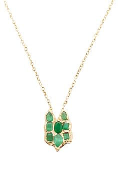 One of a Kind Emerald Necklace - Lucifer Vir Honestus Resort 2016 - Preorder now on Moda Operandi