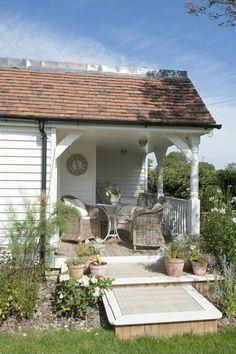 holzhäuser mit vorbau veranda bauen holzdielen