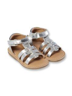 Lederen sandalen met band
