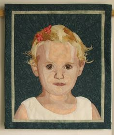 Bente's textile world: The portrait of Mina is finished