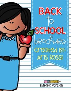 This brochure is perfect for Back to School Night or Open House. Classroom Schedule, Classroom Procedures, Classroom Management, 3rd Grade Classroom, School Classroom, Classroom Ideas, Beginning Of The School Year, First Day Of School, Back To School Activities