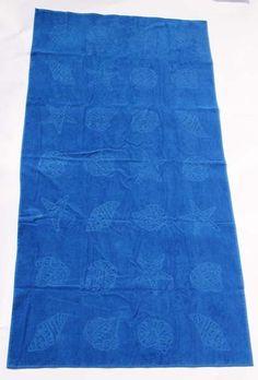 Strandlaken Maree 100x200 Kobalt blauw 100% katoen